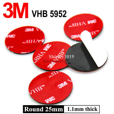 10PC 25mm Round 3M VHB 5952 Acrylic Foam Double Sided Adhesive Tape Sticker Dots