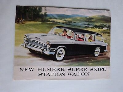 Catalogue / brochure la NEW HUMBER SUPER SNIPE STATION WAGON année 50 en anglais