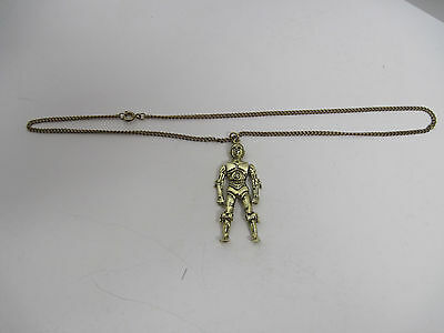Vintage Star Wars Jewelry C3PO 1977 Pendant with Chain