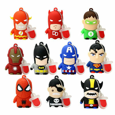 Cool Heros Cartoon USB2.0 Flash Drive Memory Pen Drive 1MB 16GB regalo natalizio