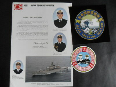 JAPANESE NAVY TRAINING SQUADRON 1981 to Australia Welcome Aboard & 2 Stickers