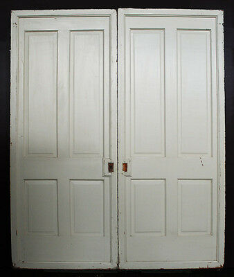 "72""x90""x2.5"" Antique Vintage Wood Wooden Victorian Sliding Pocket Double Door"