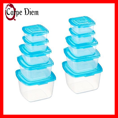 1 Lid 10 Piece Attached Plastic Container Set As Seen On