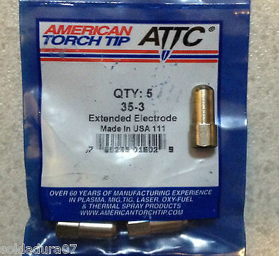 5 Électrodes Plasma Torche Coupe 35-3 America Torche CIFA - Made in USA