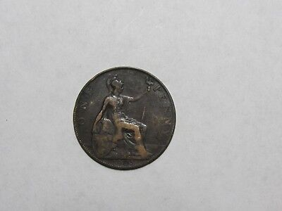 Old Great Britain Coin - 1905 Penny - Circulated