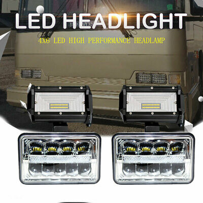 LED Headlight+2x 5'' Pod Upgrade for BLIZZARD Snowplow Snow Plow 680LT 720LT 810