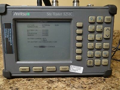 Anritsu Site Master S251C tested working!