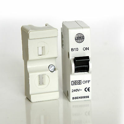 BS60898//3871 WYLEX B10 10 AMP 10A PLUG IN MCB WITHOUT BASE SHIELD