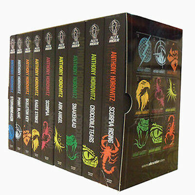 Alex Rider By Anthony Horowitz 9 Books Collection Set Pack Scorpia Rising NEW