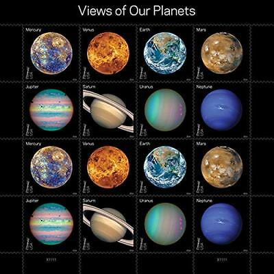 Views of Our Planets USPS Forever Postage Stamps Sheet of 16 Self-Adhesive 1 She