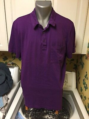 CROWN ROYAL EMBROIDERED LOGO POLO SHIRT PURPLE Men's Large Made In USA