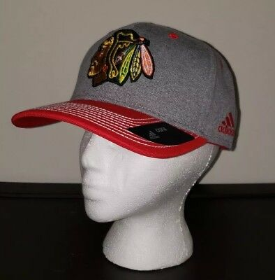 Chicago Blackhawks NHL Adidas OSFA Snapback Hat Heather Line Change NWT   27.99 2e28c561a60d