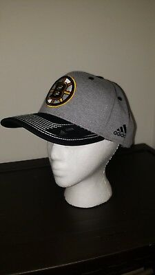 Boston Bruins NHL Adidas OSFA Snapback Hat Heather Line Change NWT  27.99 281638b5010c