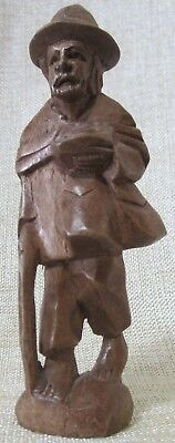 """Vintage Wooden Sculpture,  Wood Carving  Hand Carved Only 4"""" Tall"""