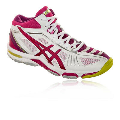 Asics Womens Gel-Volley Elite 2 MT Court Shoes Pink White Sports Badminton