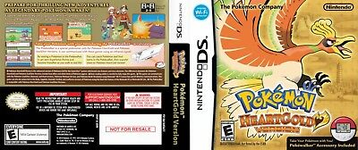 Nintendo DS replacement case with Cover Pokemon Heart Gold Variation 2