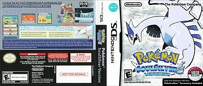 Nintendo DS replacement case with Cover Pokemon Soul Silver Variation 2