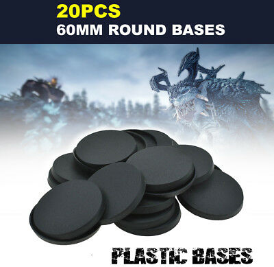 40pcs 50mm Round bases for Gaming Miniatures Wargame Circular Bases Model