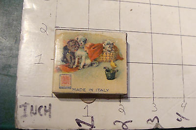 Vintage MATCHES: BOX -- S.A. FABBRICHE milano italy-with DOGS, young folks