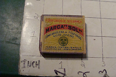 """Vintage MATCHES: unopened box -- MARCA """"SOL"""" Rio de Janeiro BRASIL old, early"""