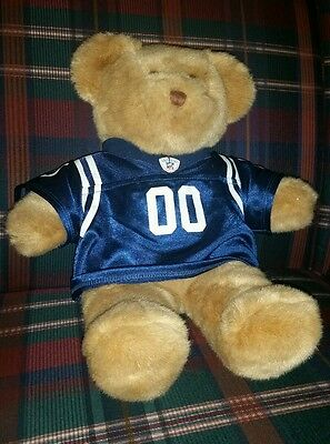 """Build A Bear~Blue NFL Jersey~ 00~Indianapolis Colts~ Teddy Bear~15"""""""