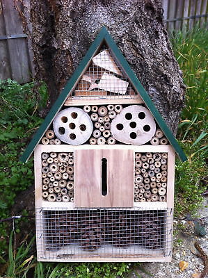 Wooden Insect Hotel For Bees, Wasps, Ladybirds, Butterflies & Bugs