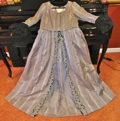 Vintage Costume Colonial Dress Gown Reenactment Steampunk Lace Up Back Corset