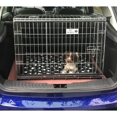 Pet World NEW FORD FOCUS 11-18 REG SLOPING CAR DOG CAGE BOOT TRAVEL CRATE PUPPY