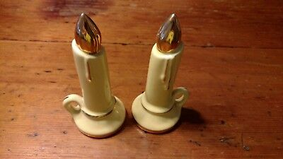 Lovely Vintage Christmas Candle Salt & Pepper Shakers - Table Decorations