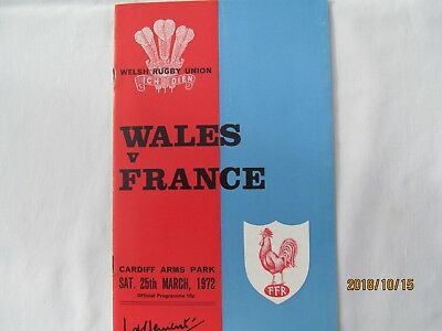 Wales v France. Rugby Union. 5 Nations Programme 1972. Cardiff.