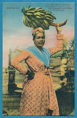 Martinique, Woman Selling Bananas Postcard
