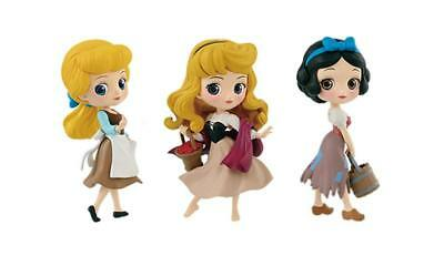 Q Posket Disney Characters petit Cinderella Briar Rose Snow White From Japan NEW