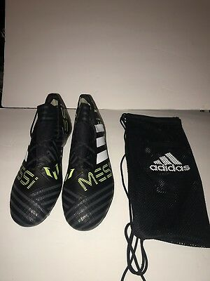 dee6aaaaa Adidas Nemeziz MESSI 17.1 FG Black Soccer Cleats Men s Shoes CG2962 Size  12.0