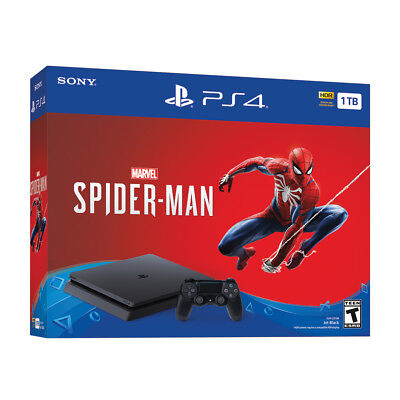 Brand New PlayStation 4 1TB Marvel's Spider-Man Console Bundle