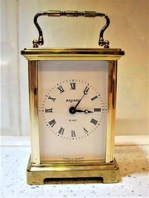 FRENCH BRASS CARRIAGE CLOCK  good working order.