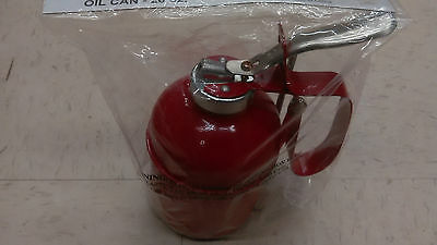 Metal Pump Oiler Oil Tin Squirt Can Tool 20 oz flexible spout oil can