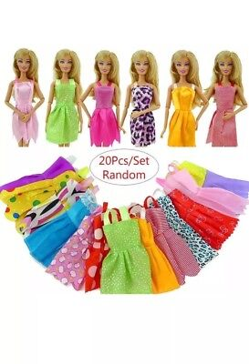 20pcs Handmade Party Clothes Dress outfit for  Doll Chirstmas Gift
