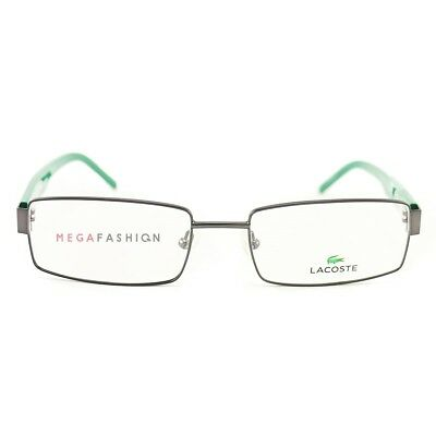 d5bba2defc3 New Lacoste Eyeglasses LC L2165 033 Green Metal Acetate 54 18 140 Authentic