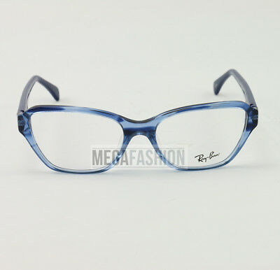 3cd1408a0fd New Ray Ban Eyeglasses RB 5341-F5572 Clear Blue Acetate 55 17 140 Authentic