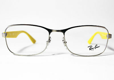28ab0ca2194 New Ray Ban Eyeglasses RB 6307-2538 Silver Yellow Metal 53 17 140 Authentic
