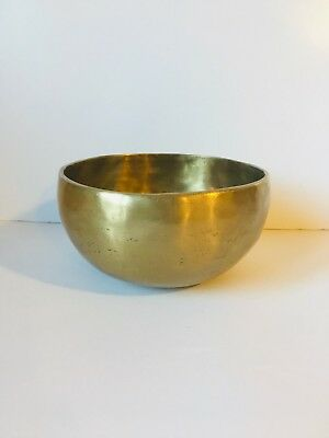 Beautiful hand hammered Tibetan Meditation Yoga Temple Bell Singing Bowl set 5""