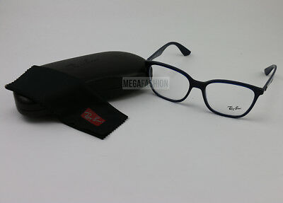 3ad3030c1b New Ray Ban Eyeglasses RB 7066-5584 Navy Acetate 54 17 145 Authentic