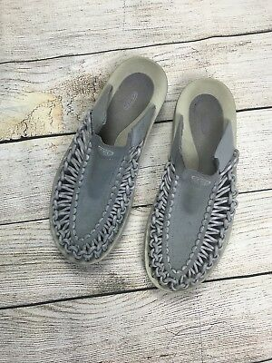 9abd8440e1bd KEEN WOMENS SANDALS UNEEK SLIDE DAPPLE GREY VAPOR SIZE 11 EU 42 (Mens 9)