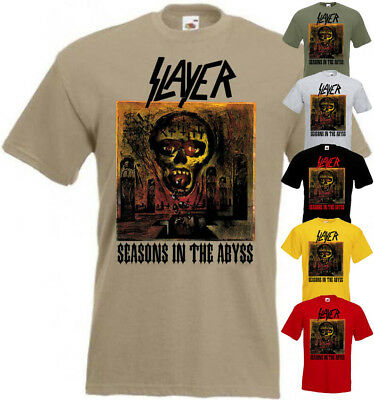 Slayer Seasons In The Abyss T shirt red yellow olive heavy metal all sizes S-5XL