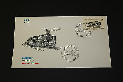 Turkey Scarce1988 Locomotive First Day Cover