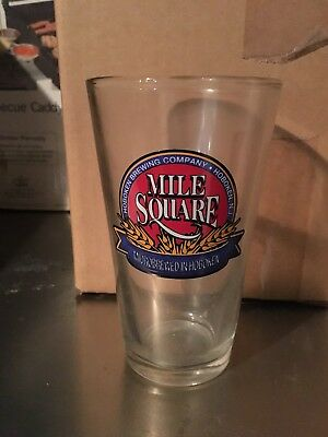 Vintage Mile Square Hoboken Brewing Company Beer Glasses