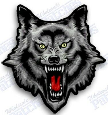 WOLF  Iron On Embroidered Patch. 2 Inch WEREWOLF MOON BIKER HOWLING  Halloween
