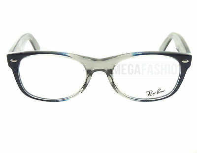 a266dfe08be New Ray Ban Eyeglasses RB 5184-5516 Clear Navy Acetate 52 18 145 Authentic