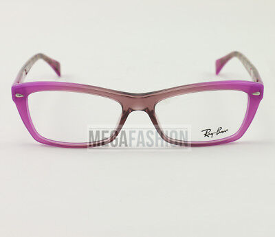 cfcdeca78a1 New Ray Ban Eyeglasses RB 5554-8953 Purple Brown Acetate 53 16 135 Authentic
