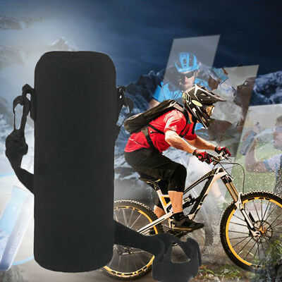 36FF 600ML Neoprene Water Bottle Carrier Insulated Cover Bag Holder Strap Useful